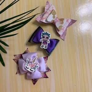 Other - Girls Hair Bows (Set of 3)